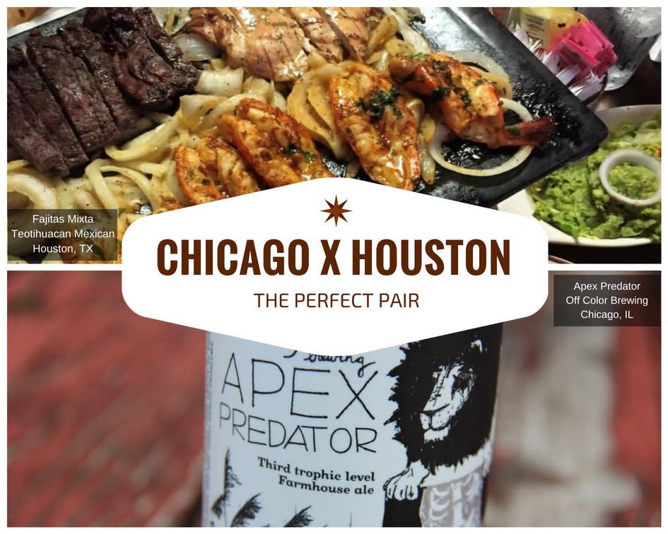 Chicago x Houston - Fajitas and Beer