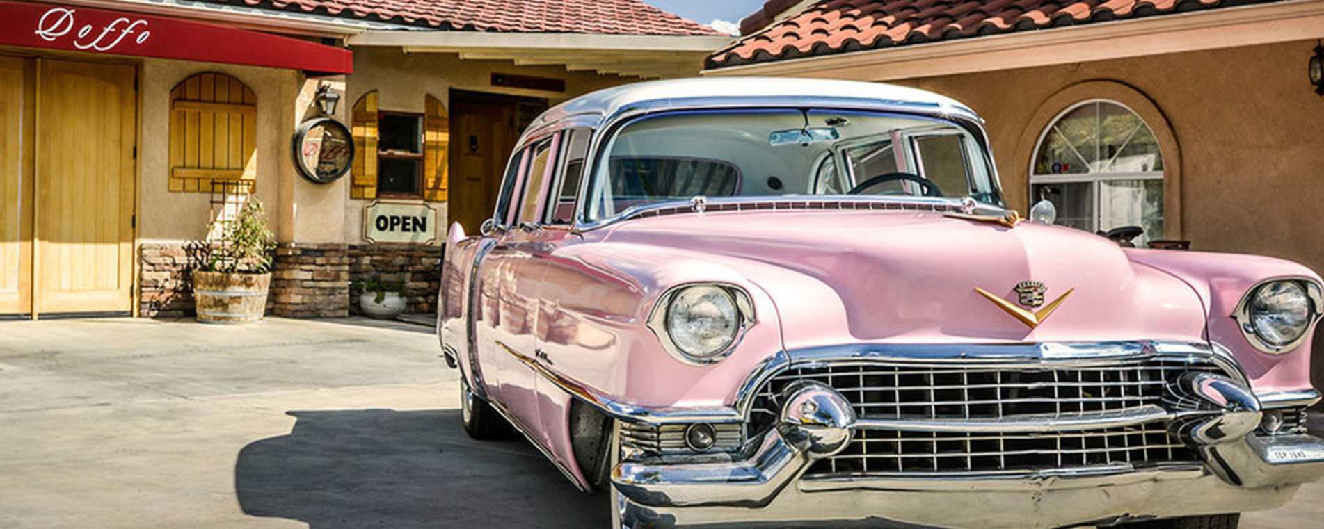 Antique Pink Cadillac - Temecula