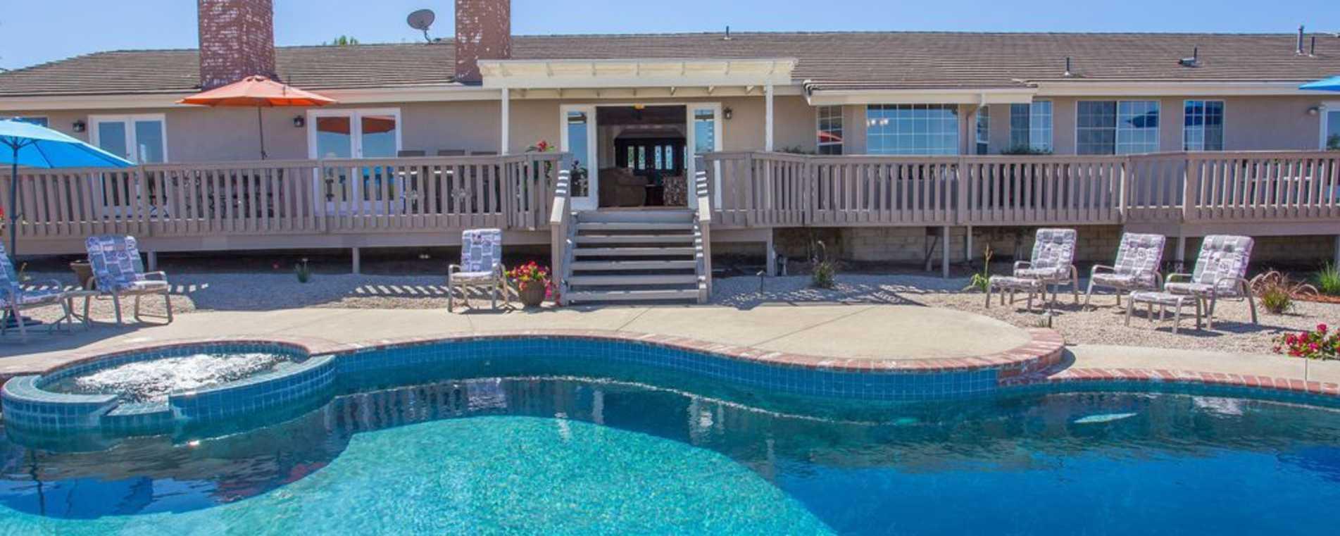 Pool Area at Vineyard Villa - TWC Villas