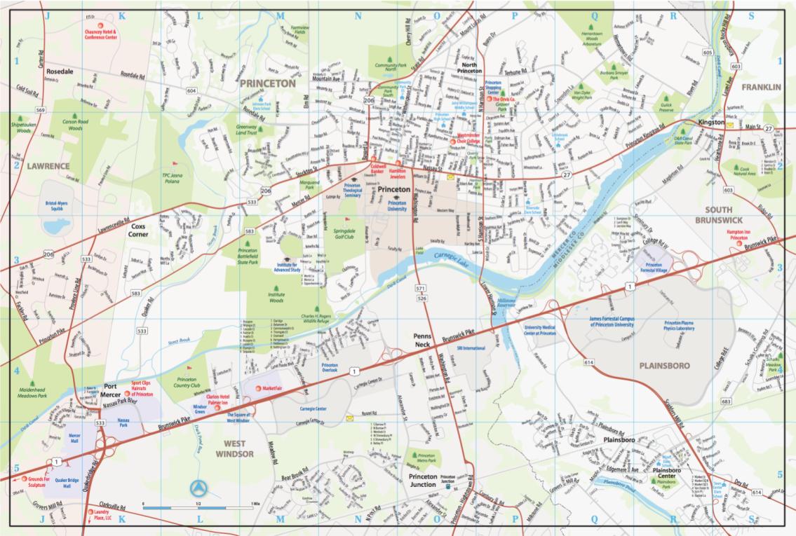 Princeton City Map 2017