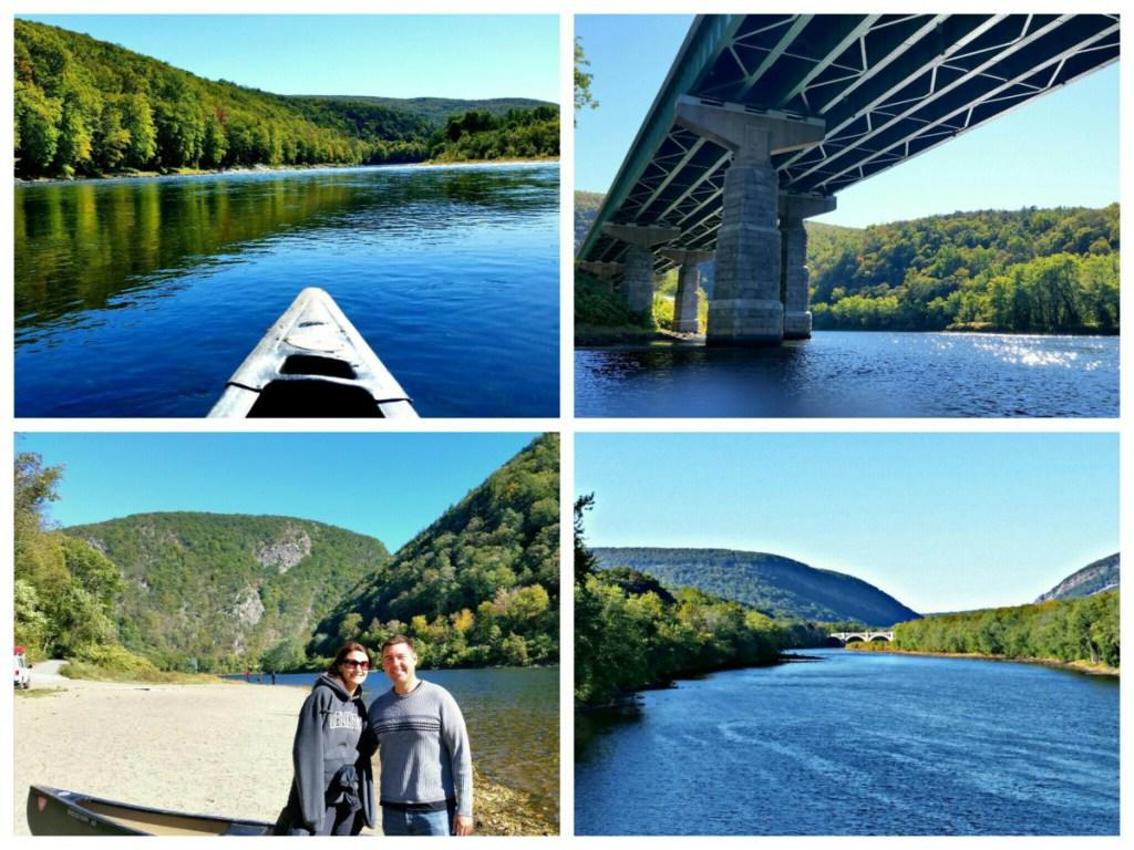 Canoeing on the Delaware River in the Pocono Mountains