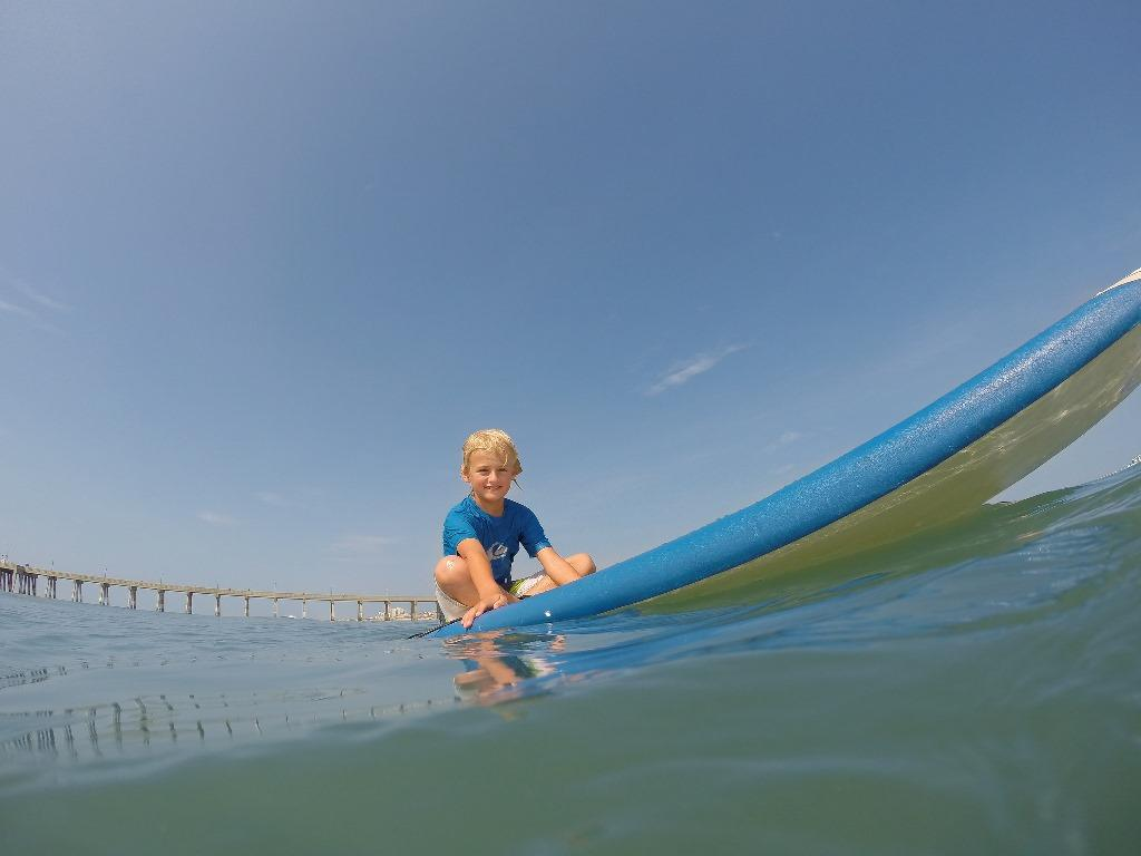 Learning to surf on Wrightsville Beach