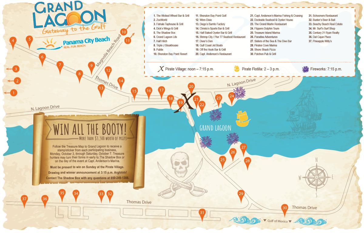 Grand Lagoon Treasure Map