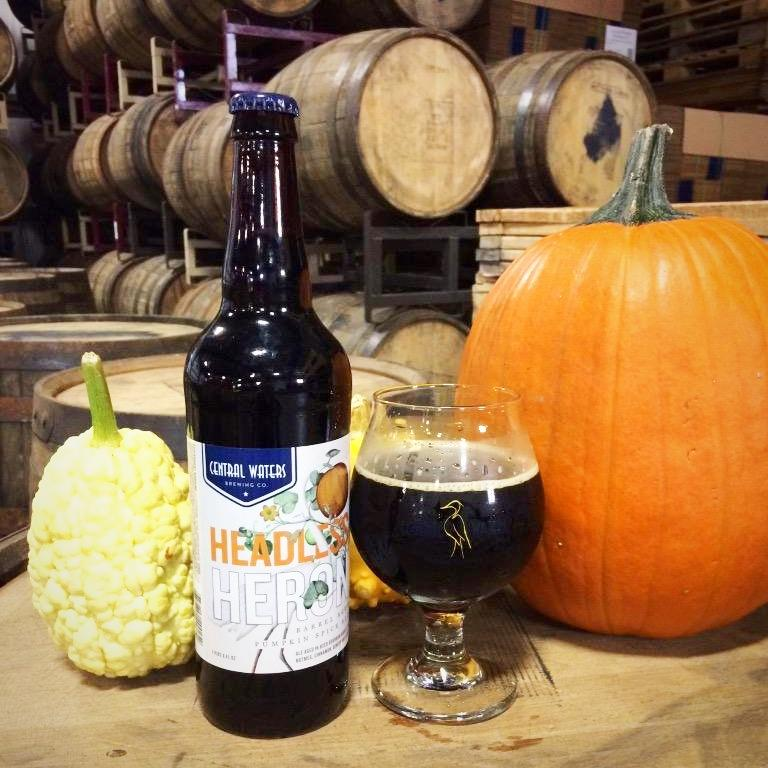 Headless Heron Barrel Aged Pumpkin Ale by Central Waters Brewing Company