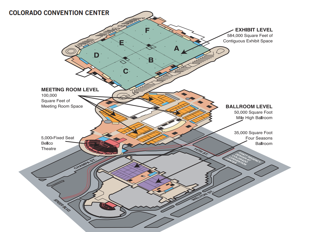 Colorado Convention Center Floorplan