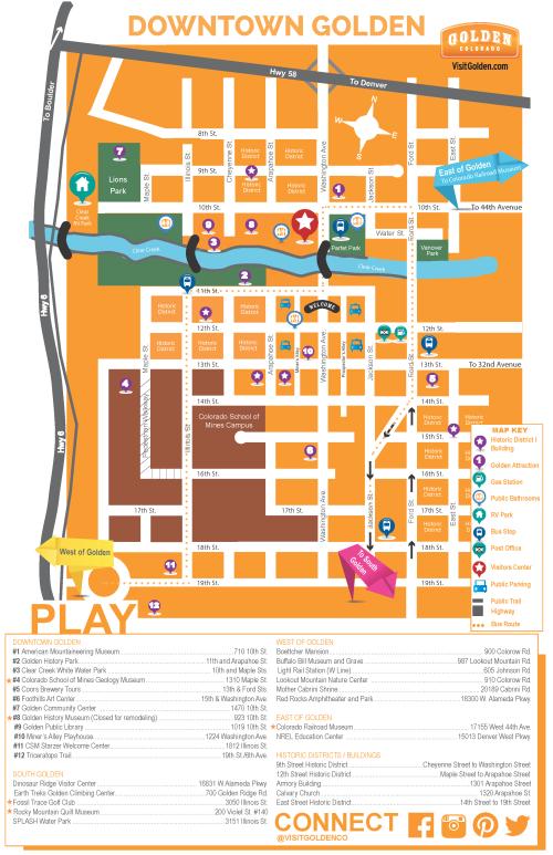 Downtown Golden Map