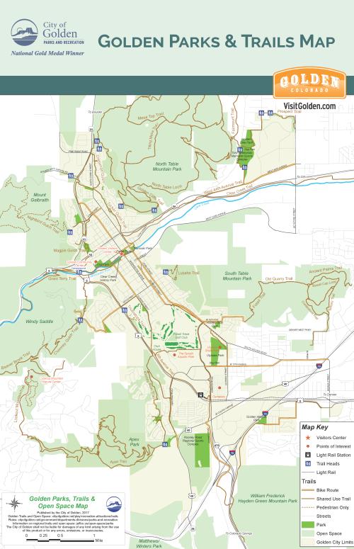 Golden Parks & Trails Map