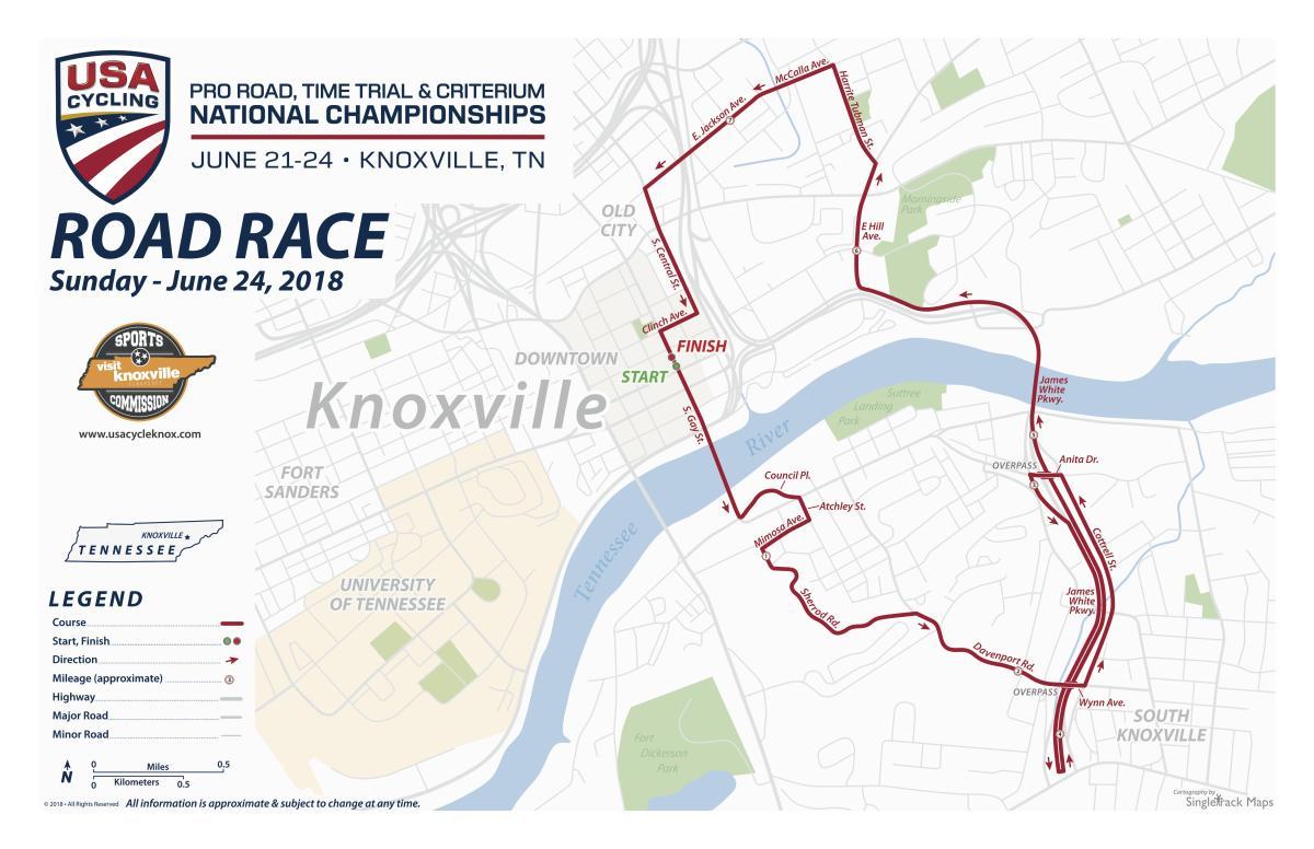 USA Cycling Road Race Map