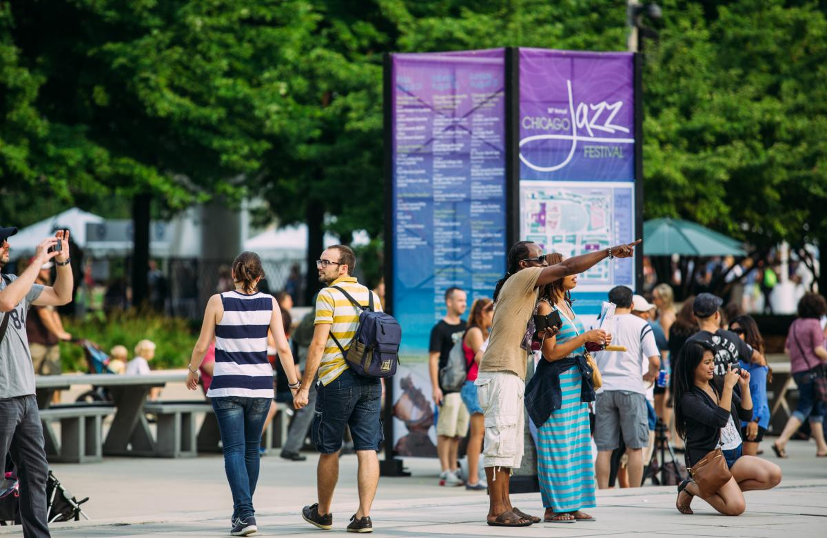 Chicago Jazz Festival in Millennium Park