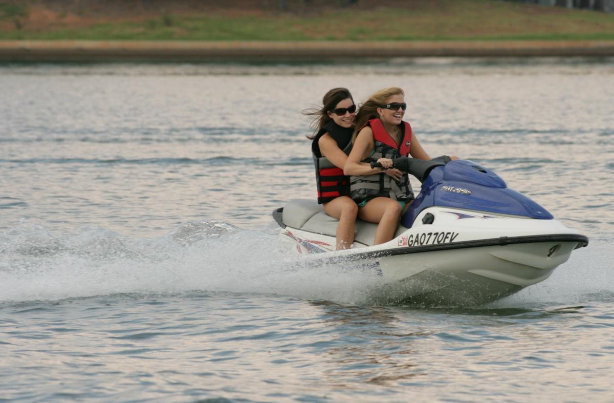 Lake Sinclair jet ski
