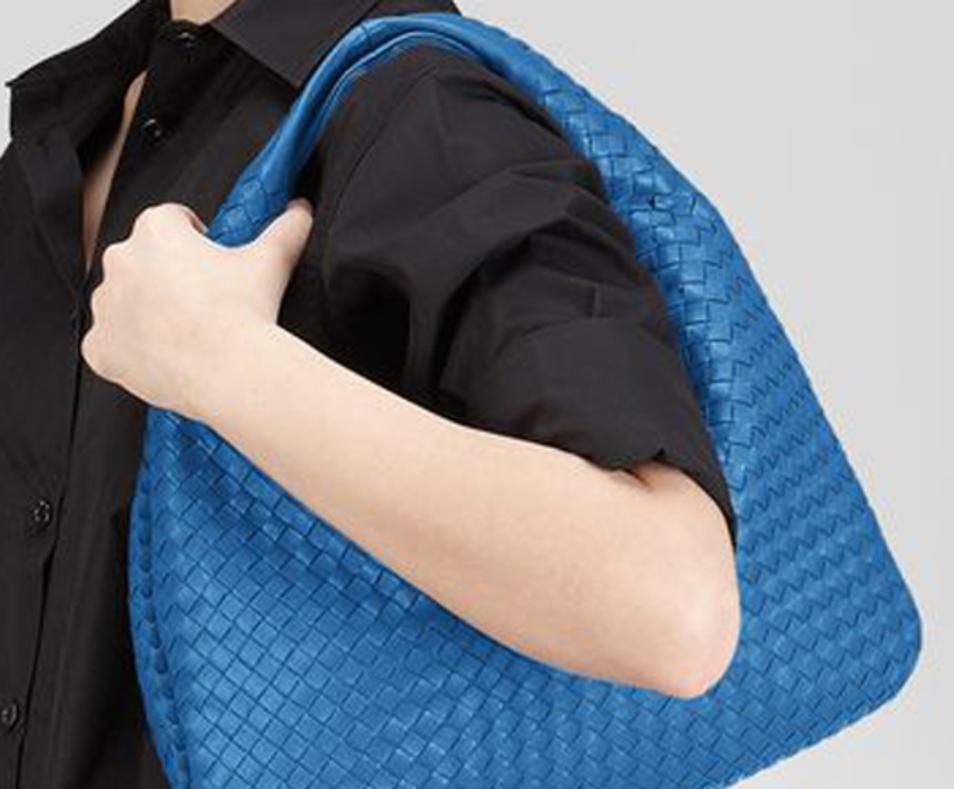 Blue hobo bag