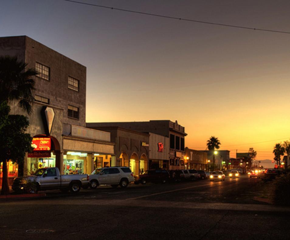 Calexico at night