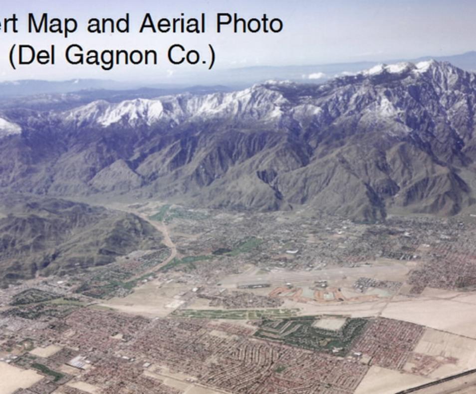 Desert Map & Aerial Photo