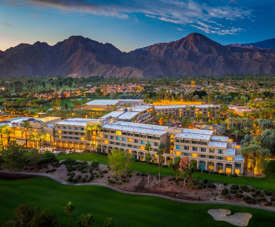 Hyatt Regency Indian Wells Aerial Golf Side View
