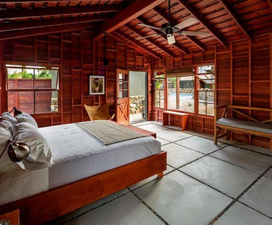Rustic guestroom