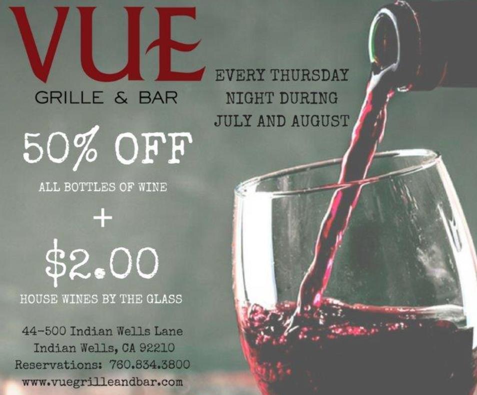 Offer: 50% off wine