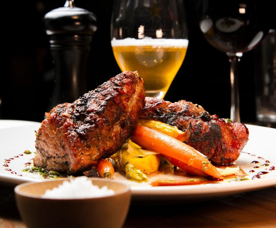 Grilled Berkshire pork tenderloin