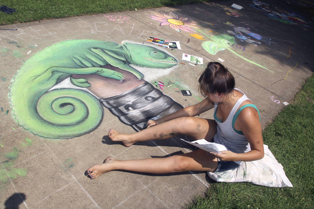 Chalkfest 2014 At Wilson Park - Photo by: Andrea Paulseth of V1