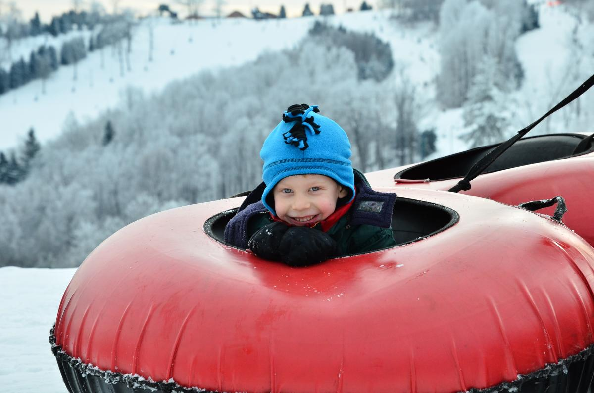 Child Tubing at Seven Springs in Laurel Highlands