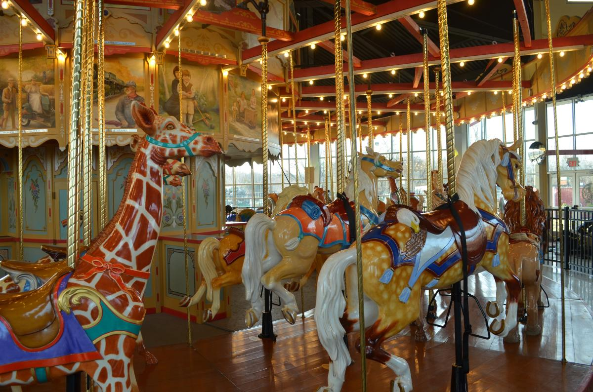 The beautifully crafted animals on the Carousel at Pottstown