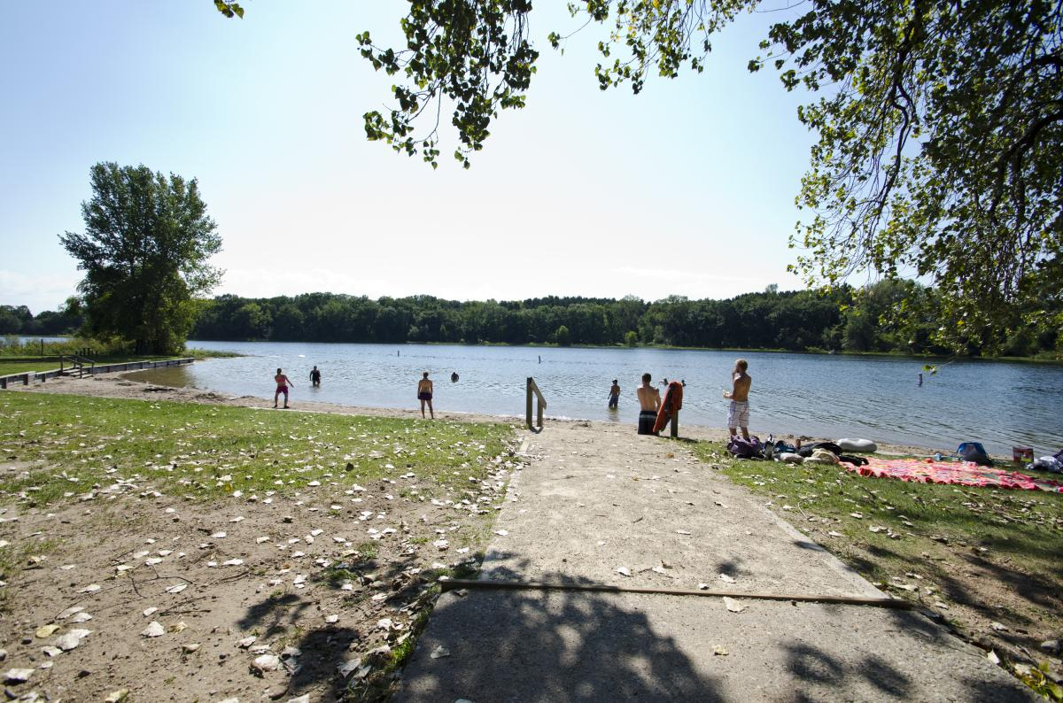 A great way to spend a summer day in the Stevens Point Area, at Lake Emily near Amherst.