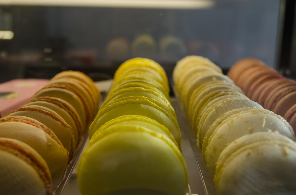 Macarons are a specialty at Delice et Chocolat