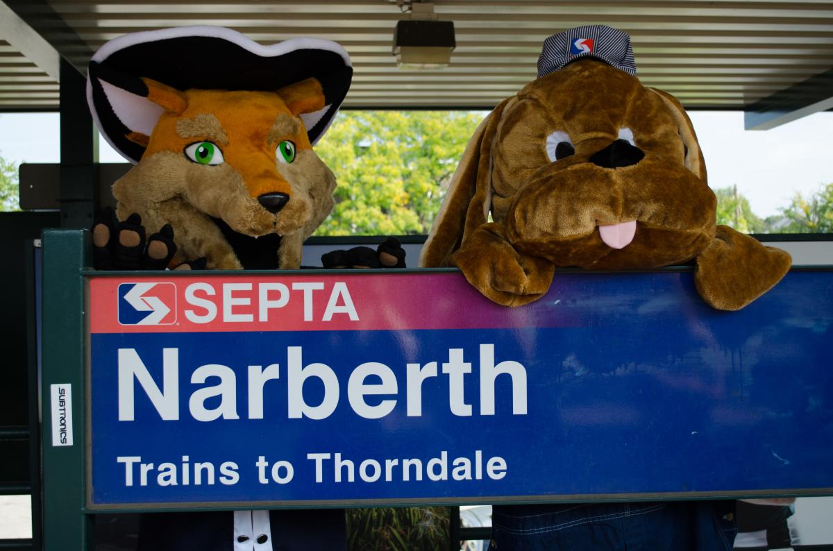 Monty and Paws at Narberth SEPTA