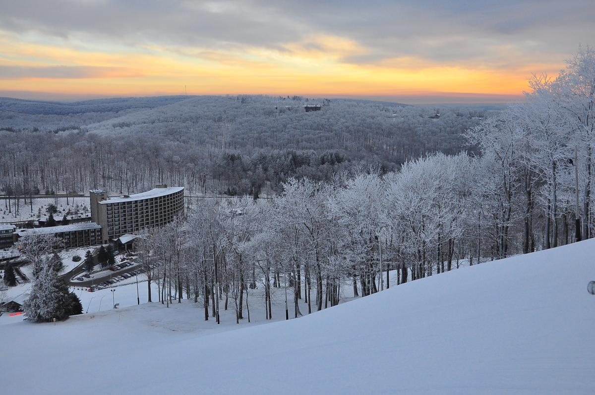 Seven Springs at Winter Sunrise