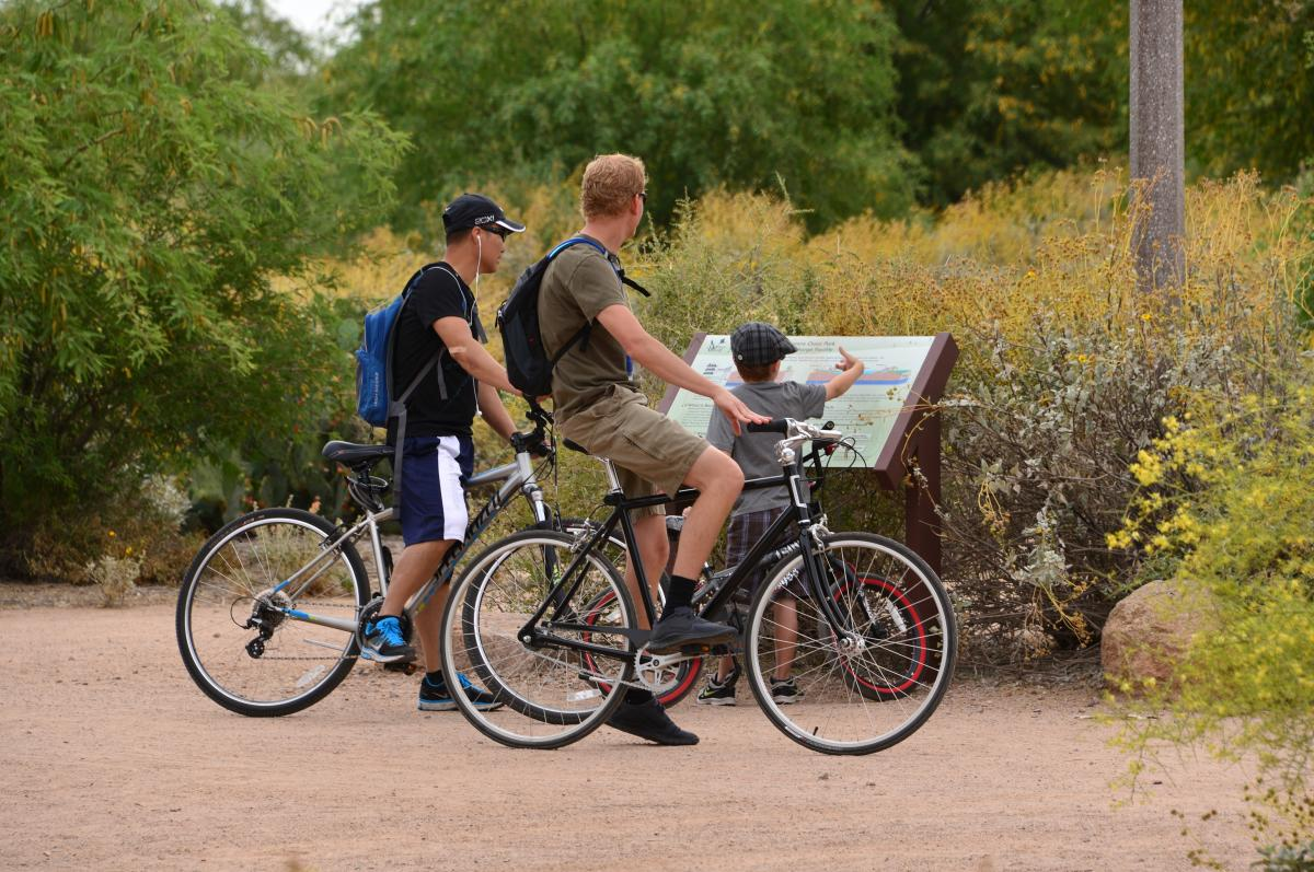 Biking at Veterans Oasis Park