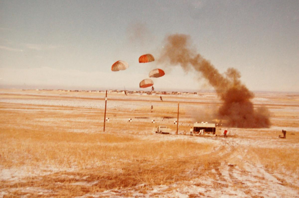 Ejection seat tests near Stapleton International Airport