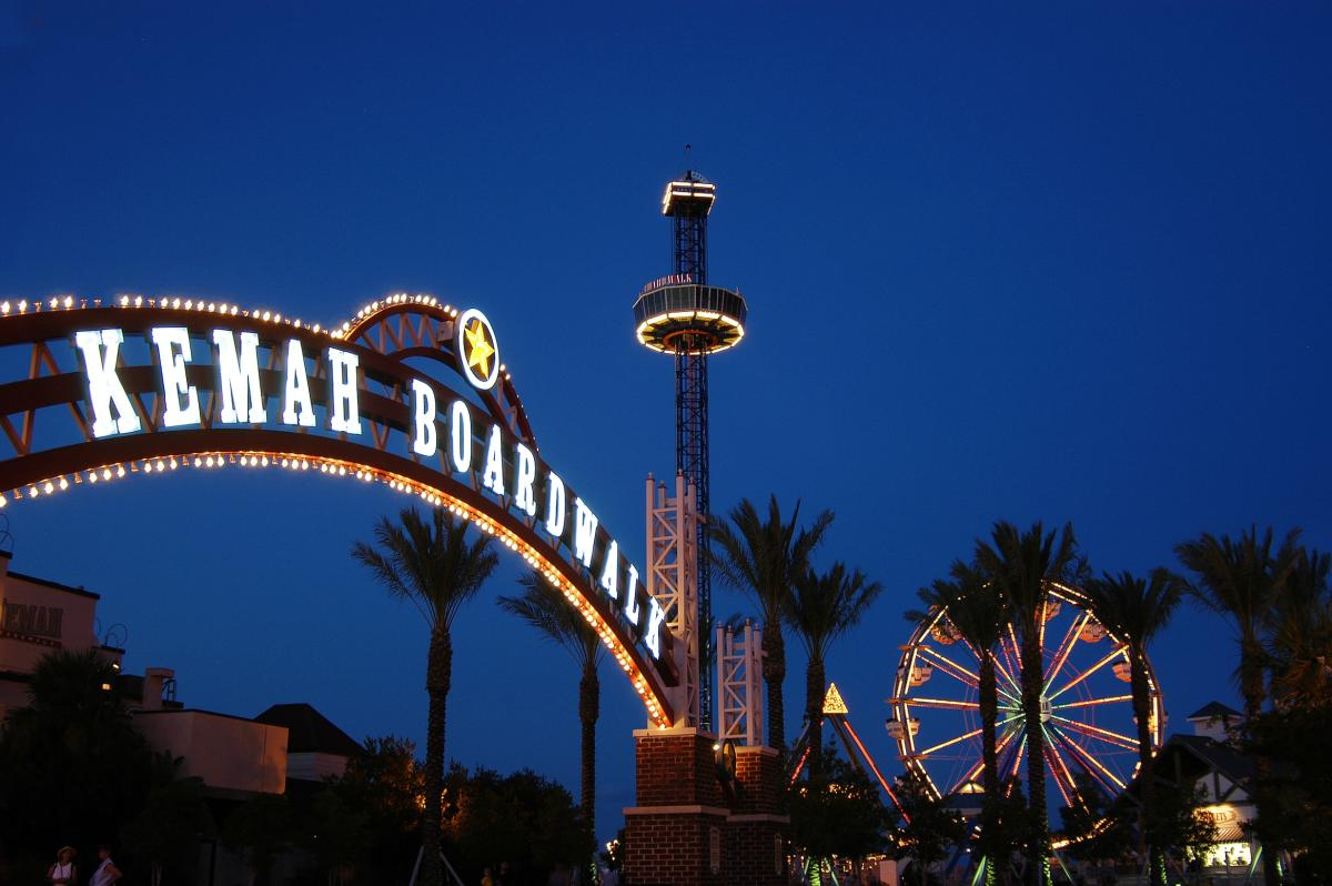 Kemah Boardwalk in Houston, TX