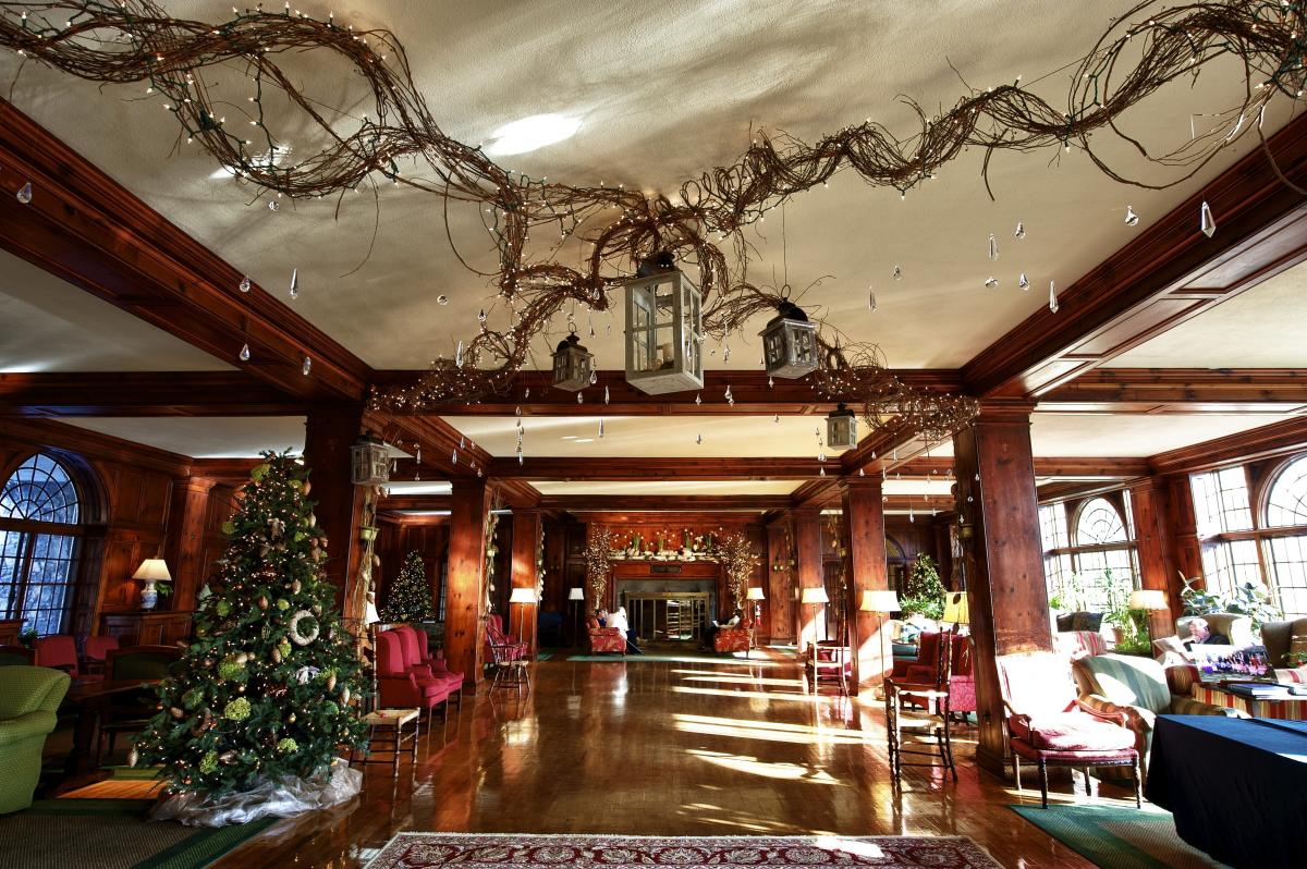 Holiday Decorations Skytop Lodge in the Pocono Mountains