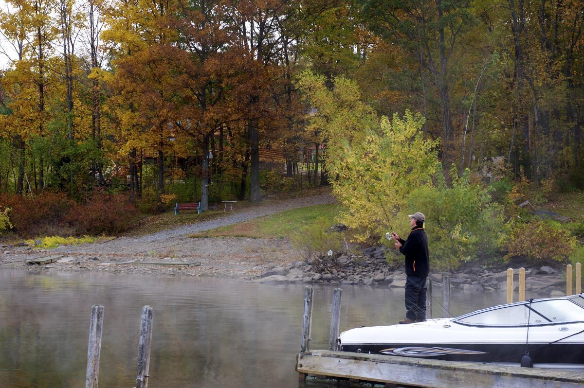 Fishing on Lake Wallenpaupack