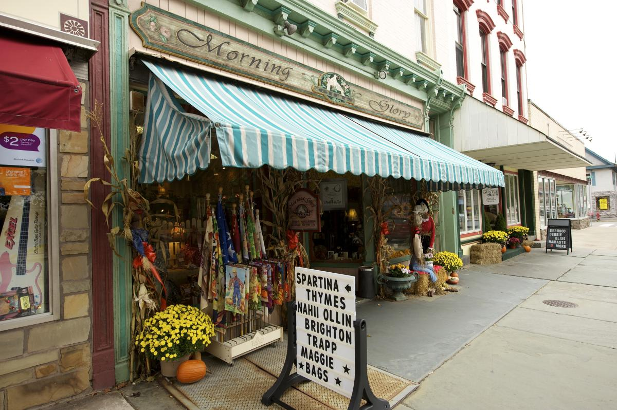 Shopping in Downtown Honesdale