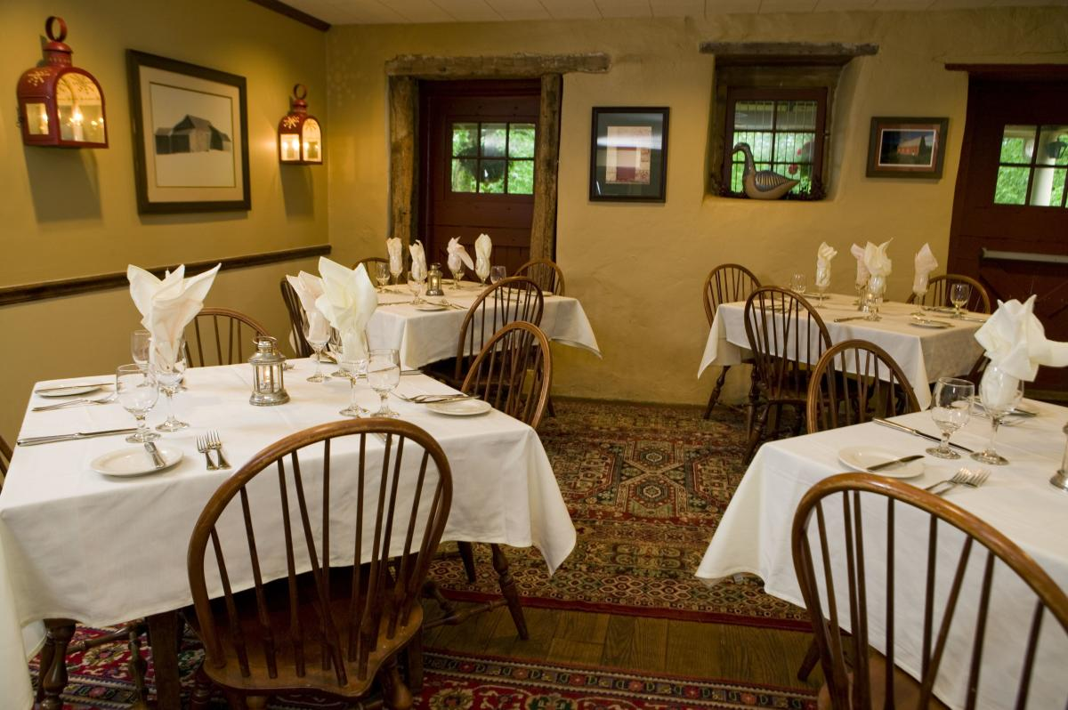 Joseph Ambler Inn Dining Room
