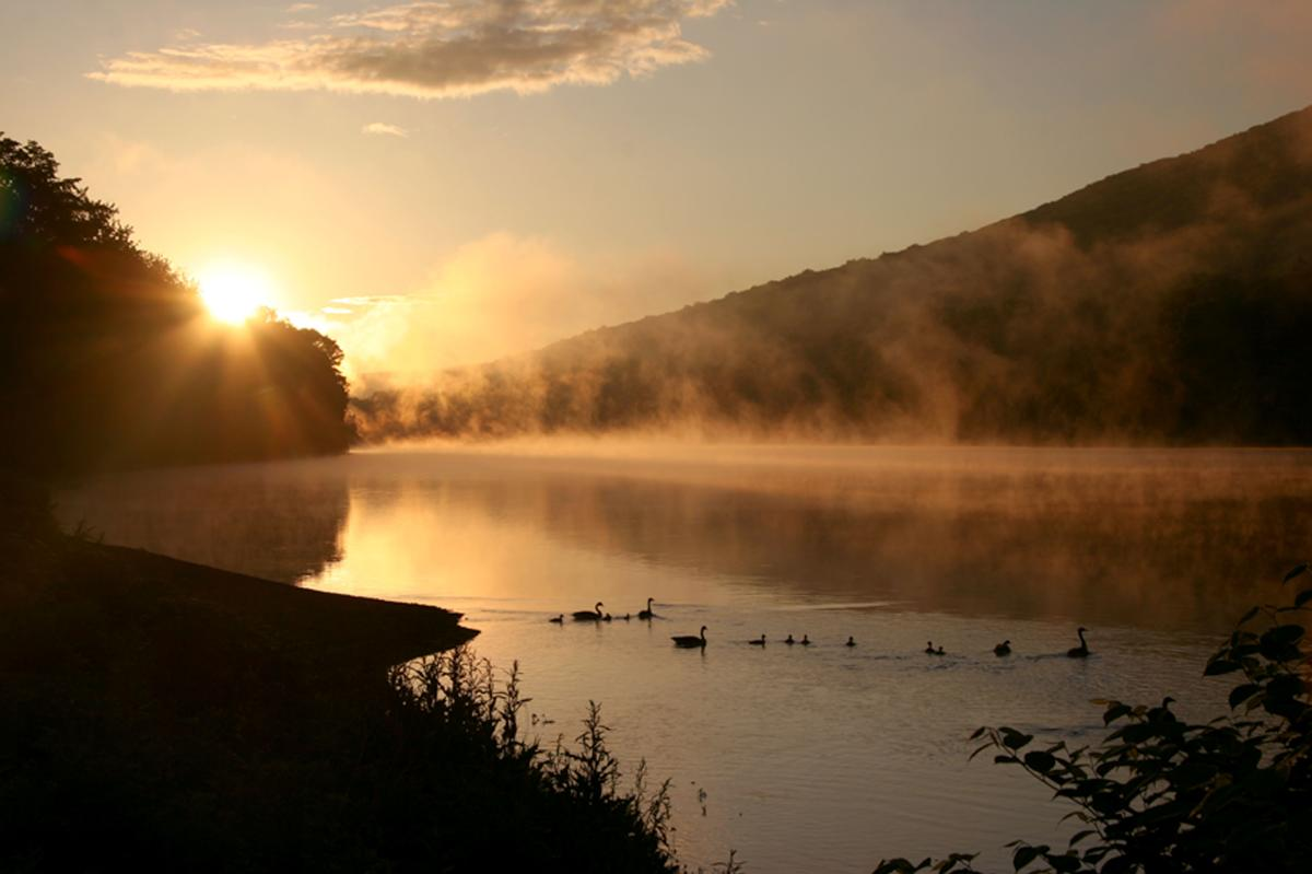 Pocono Mountains Sunset Delaware River