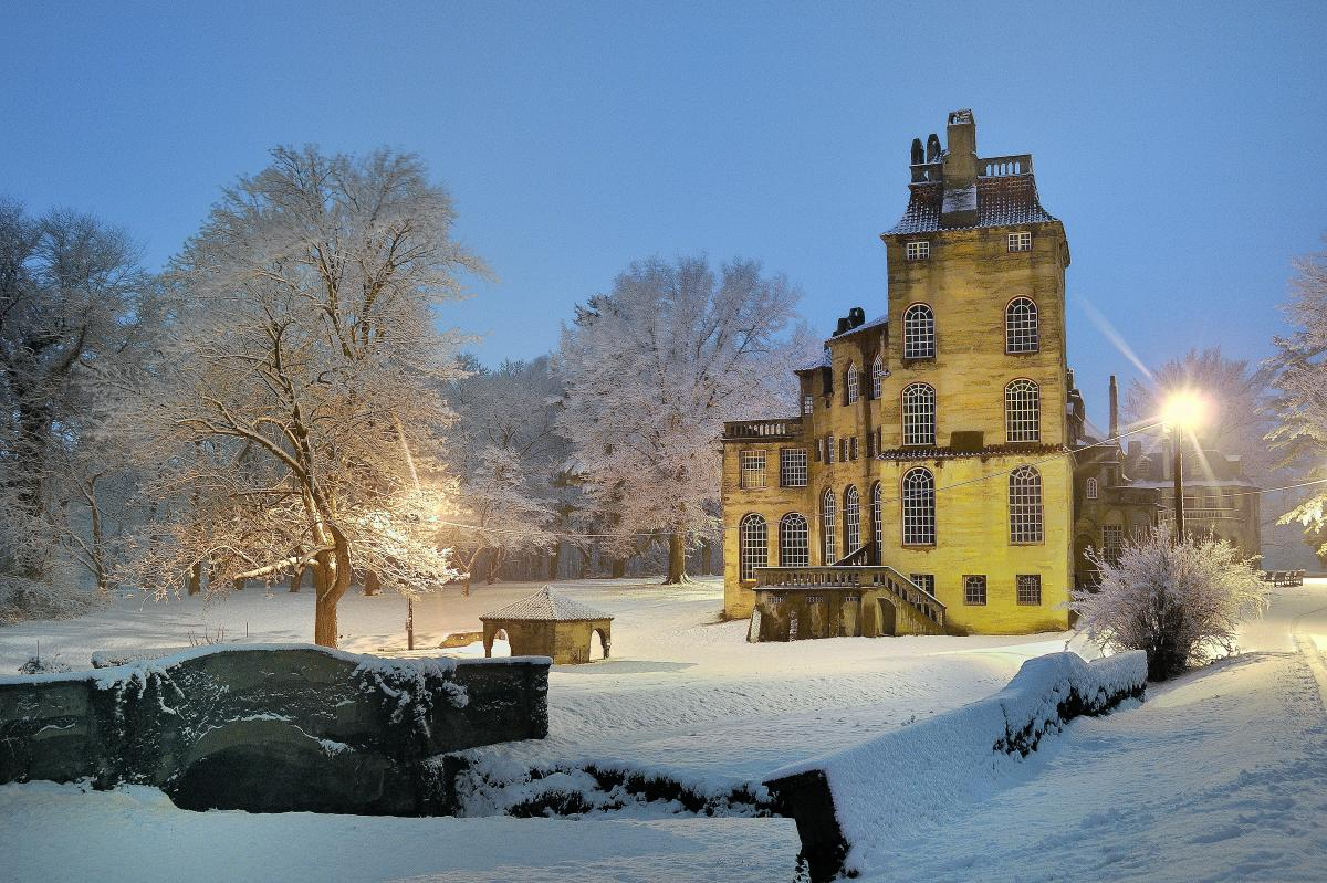 Snow at Fonthill Castle