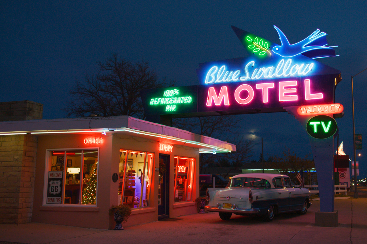25 Reasons to Love Route 66, includes the Blue Swallow Motor Court in Tucumcari