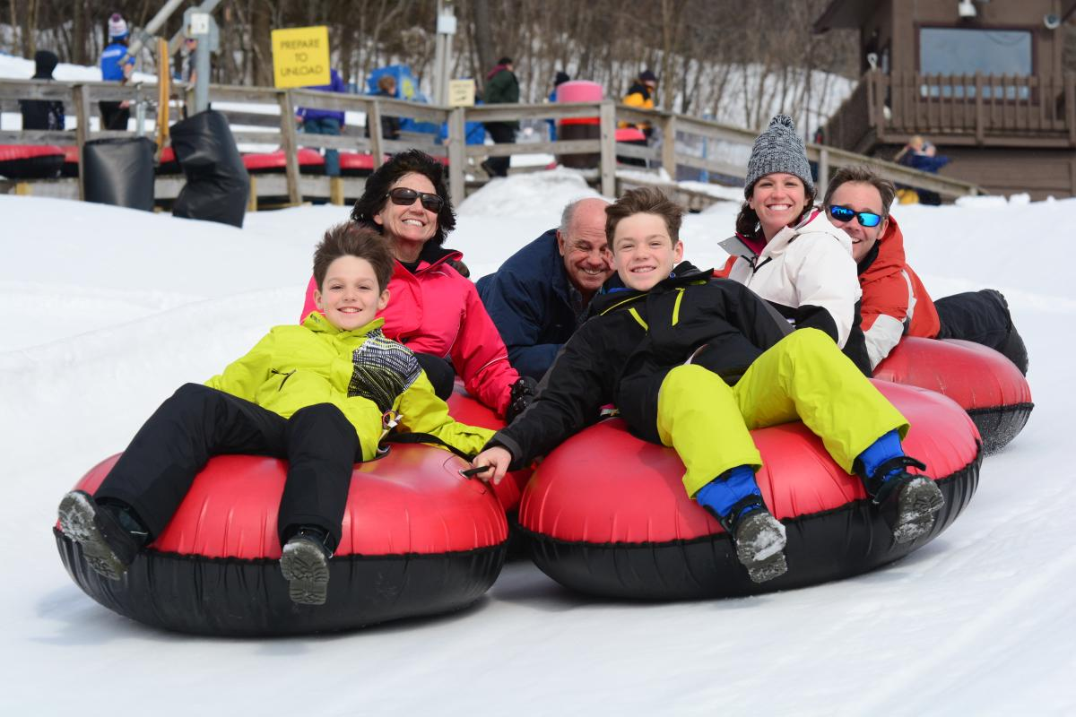 Tubing at Seven Springs