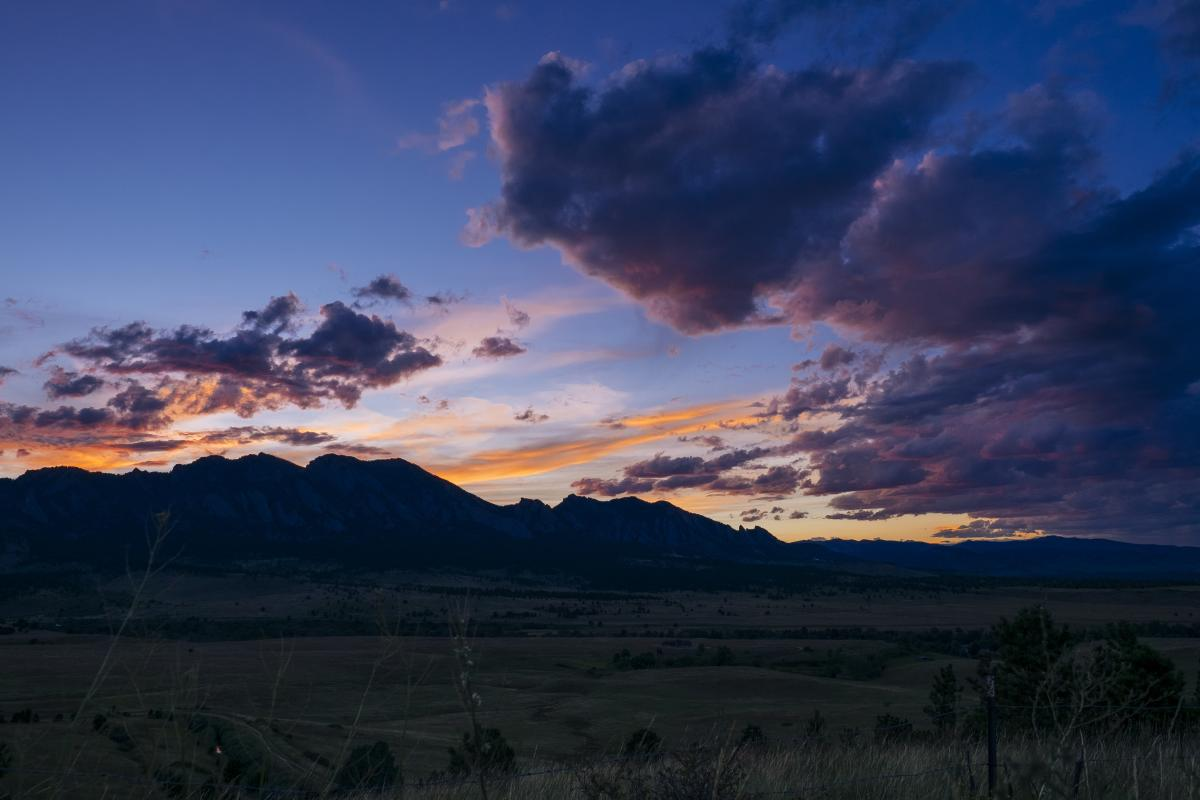 Flatirons at Sunset