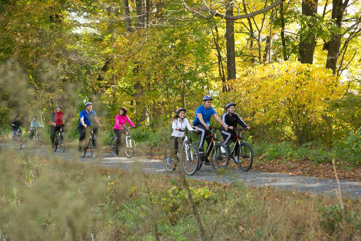 Biking in the Pocono Mountains