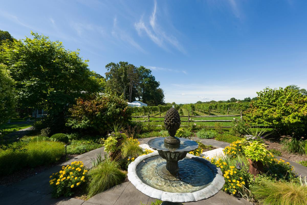 Fountain at Crossing Vineyards