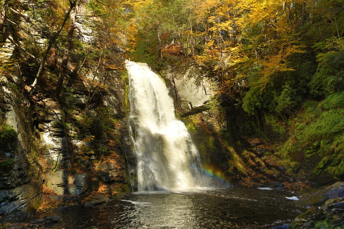 Waterfall Viewing in the Pocono Mountains