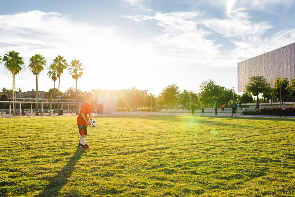 Soccer Practice at Curtis Hixon