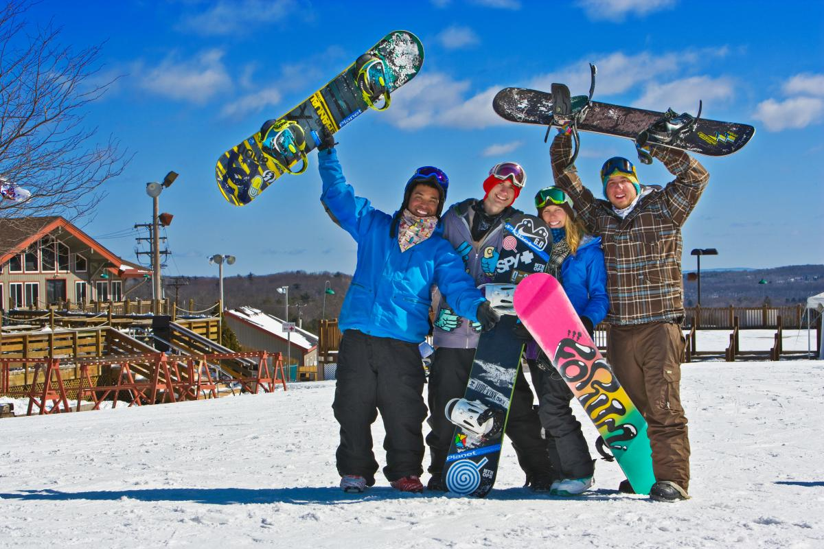 Snowboarding Fun in the Pocono Mountains