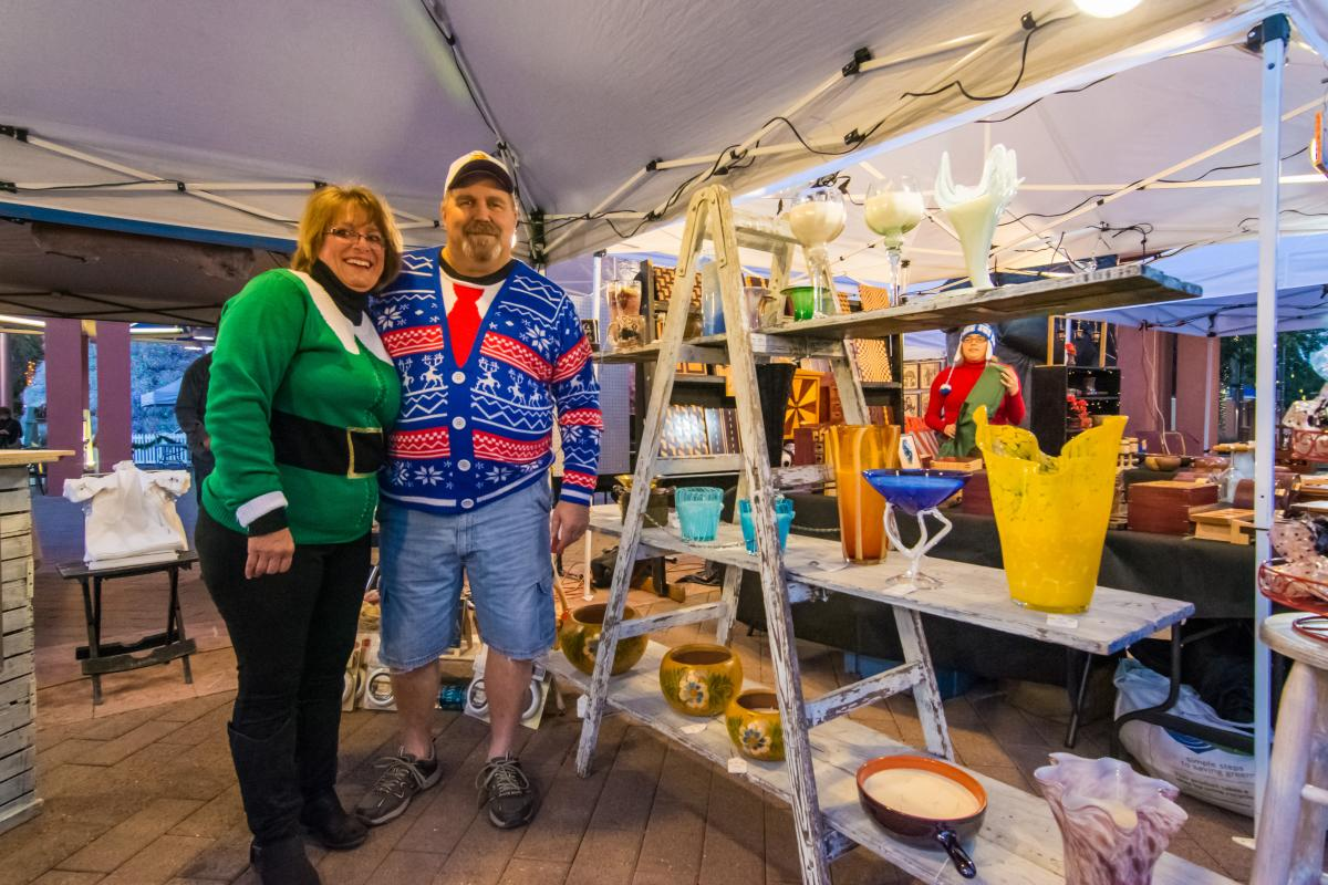 Ugly Sweater themed Art Walk