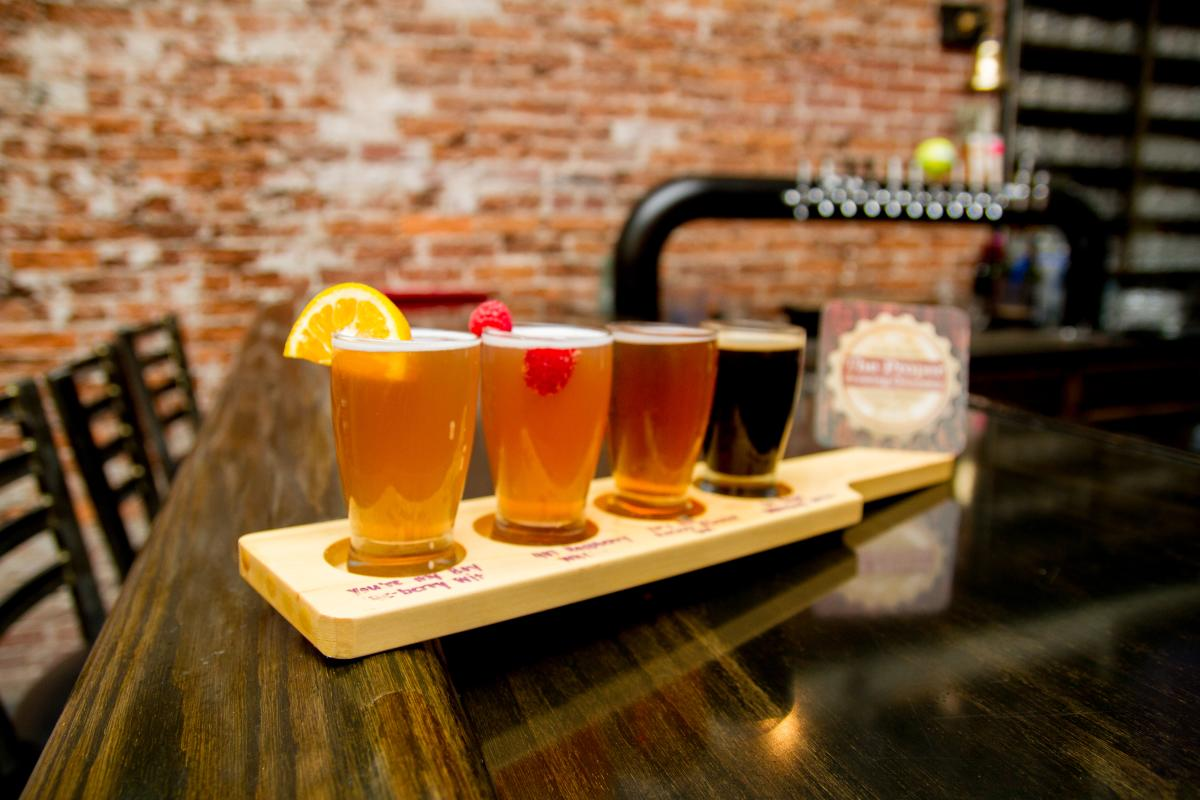 The Palace Room (former home of The Palace Theater) is Proper Brewing's private banquet room located behind the Taproom.