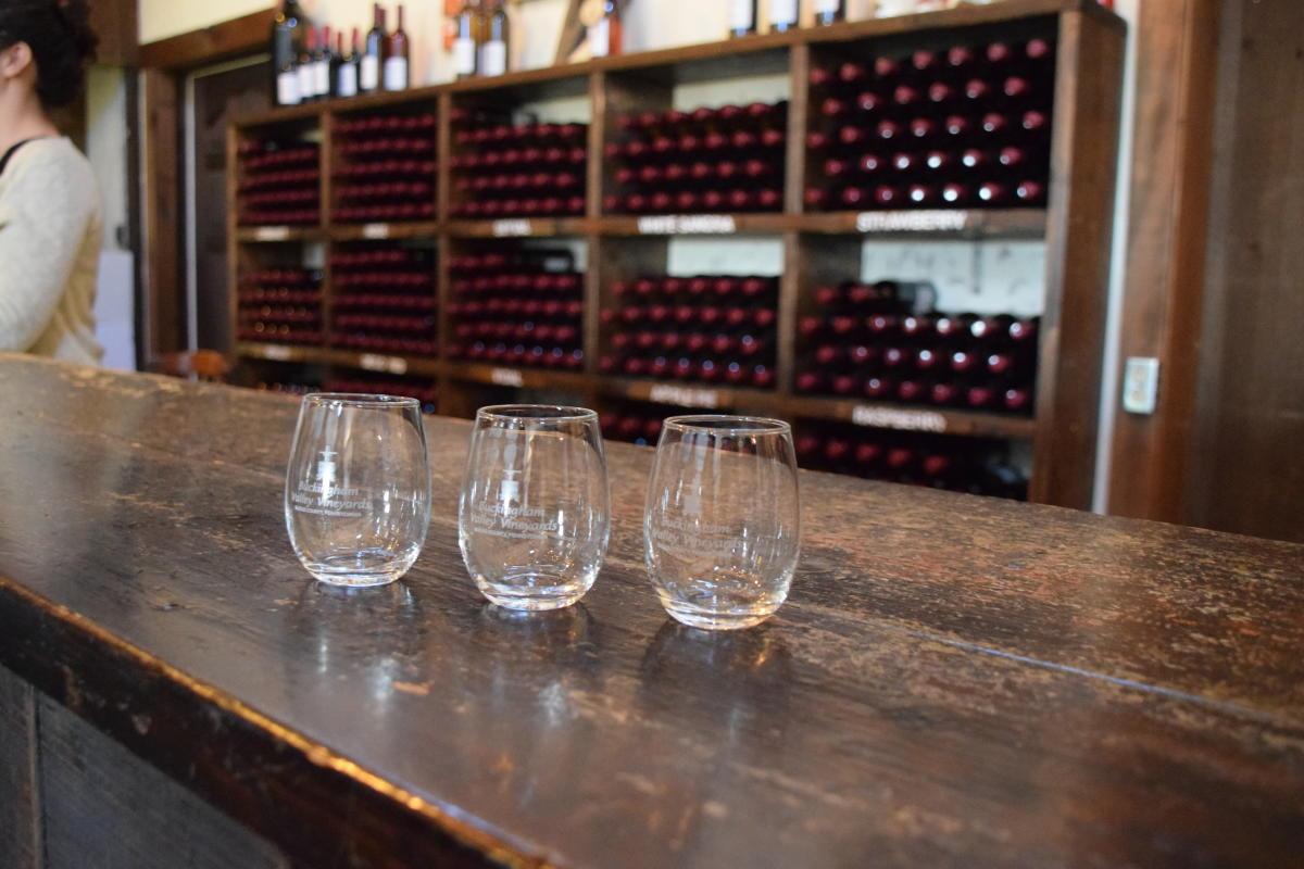 Buckingham Valley Vineyards - glasses