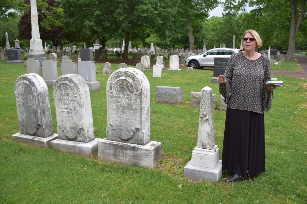 Tammy Schane in Doylestown Historic Cemetery