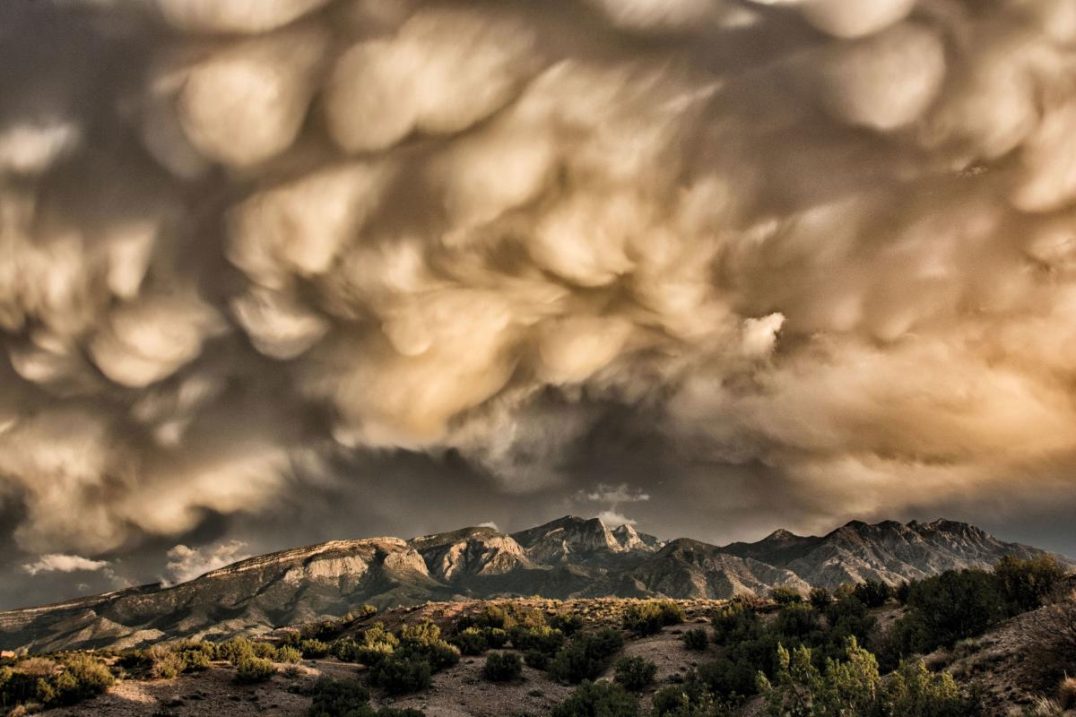 Grand Prize Winner, Fall Storm in the Sandia Mountains by Michael Edminster